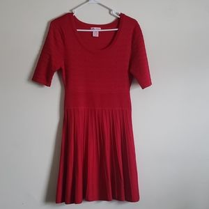 Candies Red Sweater Dress